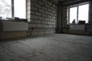 зачищенный пол готов к укладке цементного раствора