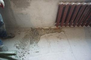 цементная смесь крошится и пылит