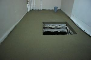 толщина стяжки в подсобном помещении