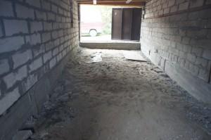 гараж под стяжку