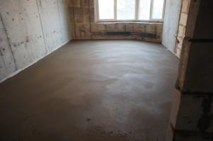 поверхность стяжки в квартире