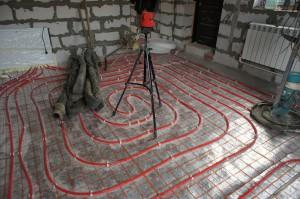 подготовка оборудования к укладке стяжки