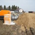 размещение оборудования и материалов для стяжки