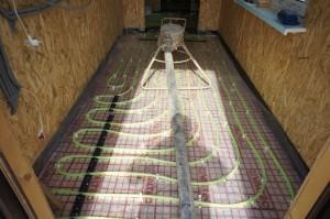 подготовка оборудования для стяжки
