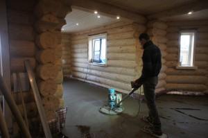 деревянный пол под стяжку