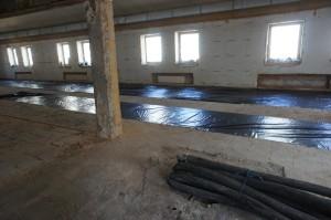 стяжка на бетонное основание пола