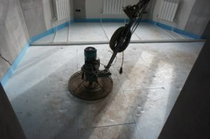 подготовка оборудования к стяжке