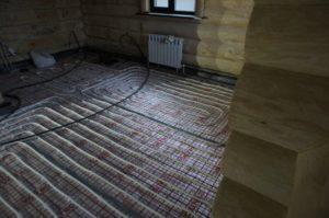 теплый пол под стяжку