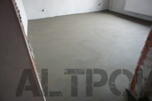 бетонная стяжка теплого пола