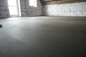ровный цементно-песчаный слой