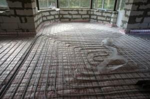 цементная стяжка на теплый пол